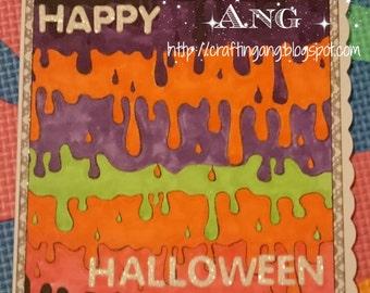 OOAK Handmade Halloween Card Using Oddball Art Co Image