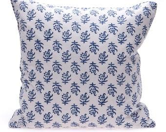 SALE -Blue Block Print Cushion