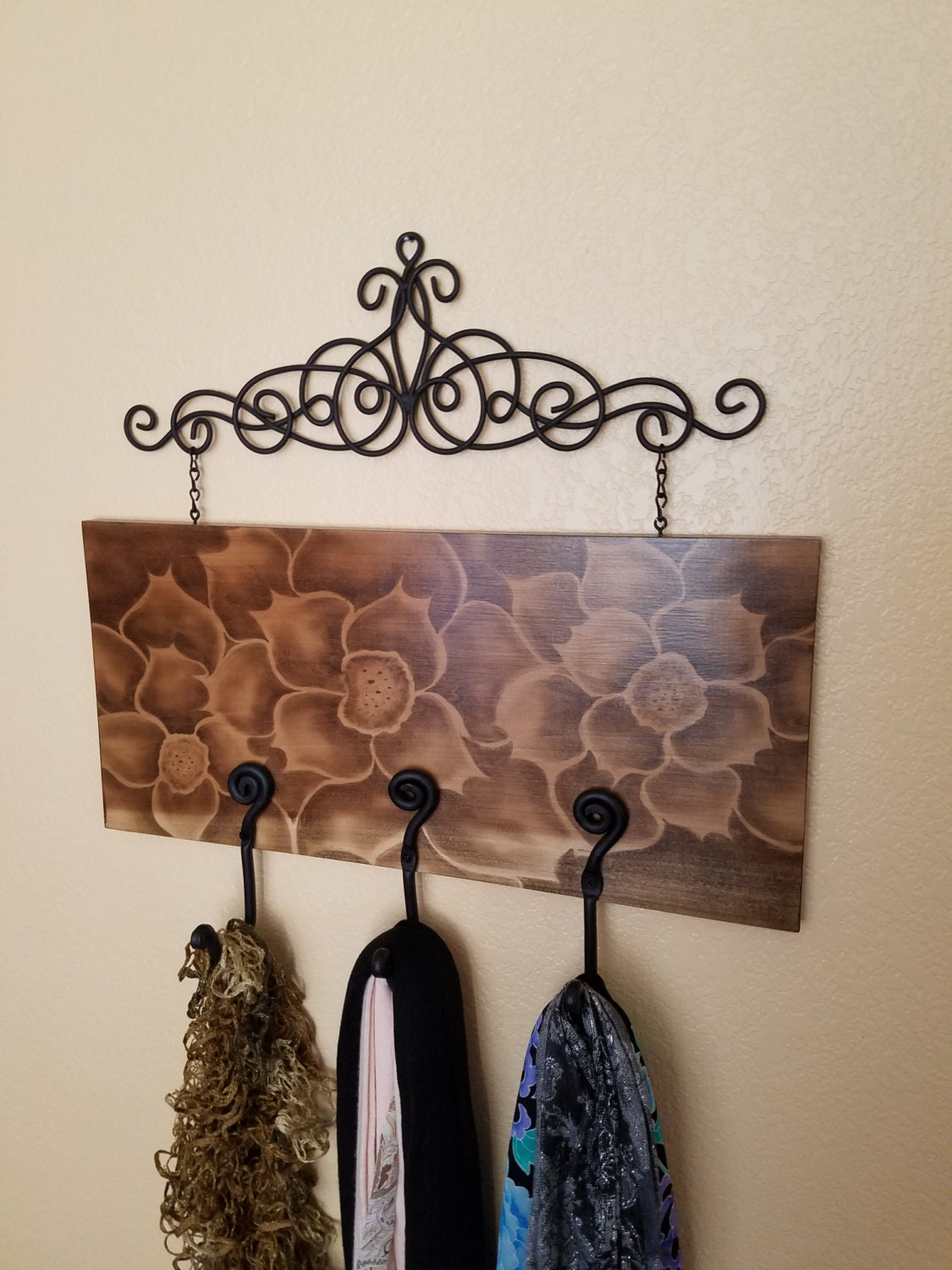 Coat Rack Wall Hanger Decor Home Decor Hand Crafted Rustic