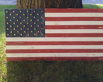 Distressed Pine American Flag