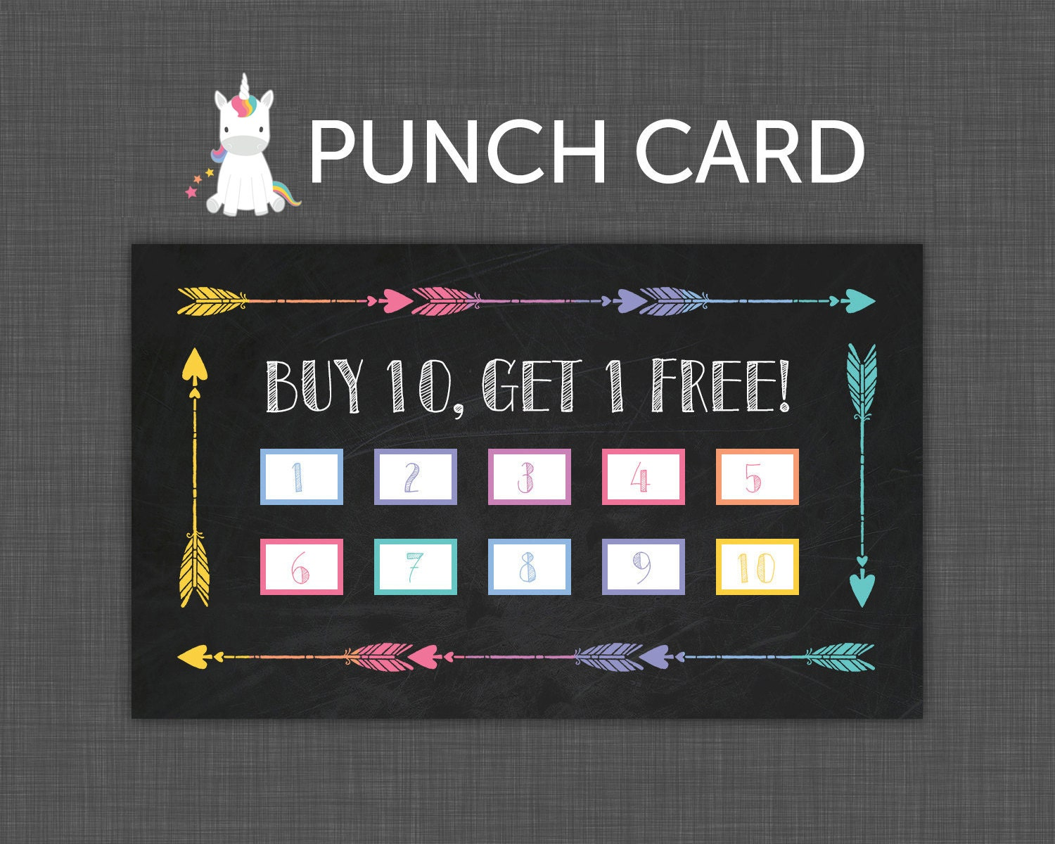 punch card black punch card buy 10 get 1 free instant