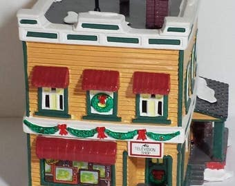 Al's TV Shop Dept. 56 Snow Village Item #54232 - Retired