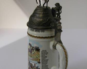 Vintage German Military Cavalry Beer Stein