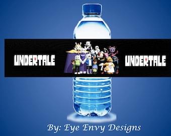 Undertale Water Bottle Labels