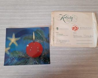 "Vintage Polish Sound Postcard 7"" Flexi Record Postcard Christmas"