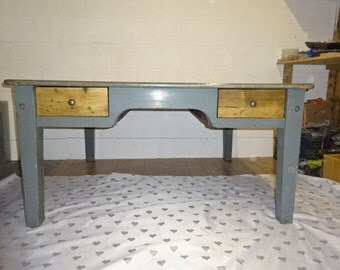 Industrial style table/Solid pine/Original paintwork/Rustic charm