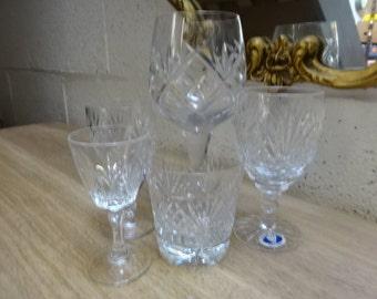 An Assortment of crystal cut Glasses