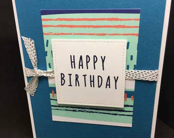 Birthday Card, Handmade Birthday Card, Stampin' Up! Designs