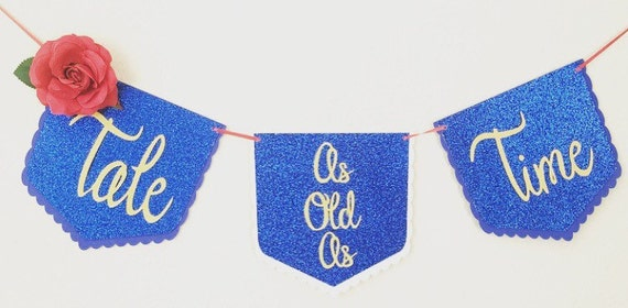 Tale as old as time party banner