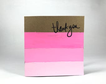 Pink Ombré  Thank You Card