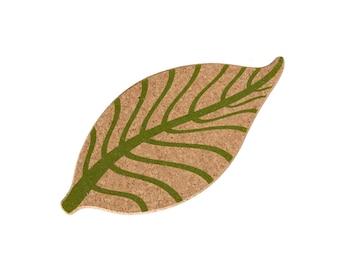 Leaf-shaped Cork Trivet