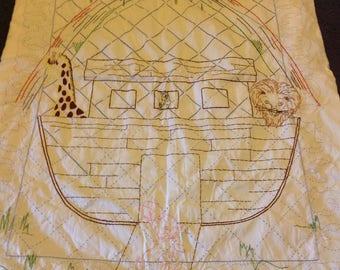 A baby Noah's Ark blanket
