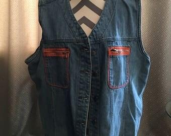 Vintage Jean Vest