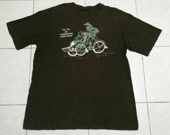 Rare!! Tin Tin Au Cambodge Seim Reap Cartoon T-shirt