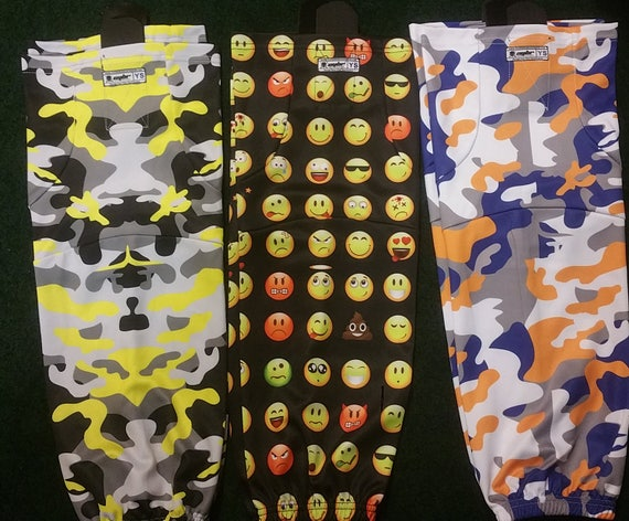 EASTER SALE Youth & Adult Ice Hockey Socks | Orange OR Red Flames, Multiple Camos, Black Emoji's, and Customs