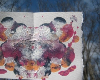 "Original Inkblot Art, Psychology Art, Therapy Art, Therapy Office Art, Conversation Art ""Storyteller"""