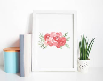 Floral Watercolor Art Print