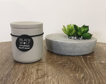 Concrete Candle in Raw Grey