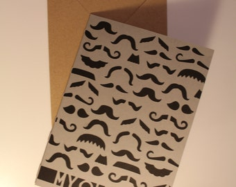 My Old Man - Moustache Greeting Card, Father's Day Card
