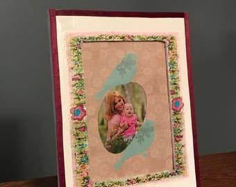 Springtime Decorative Wooden Designed Photo Frame