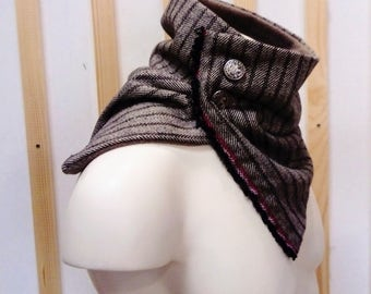 men snood scarf , snood men , wool snood , men collar