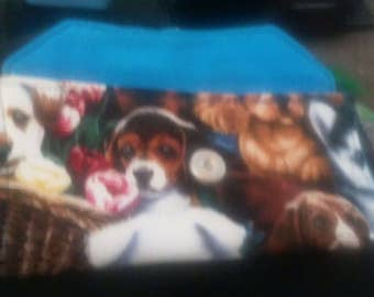 Dog print padded phone/eye case