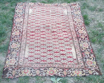 61 x 41 inches Beautiful MidCentury Oushak Rug from Turkey  Rug Color Pastel