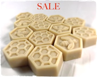 4x unscented oatmeal, goats milk, honey soap / clearance / sale / travel sized soap / guest bars / natural soap / Clearance / Mens Soap Also