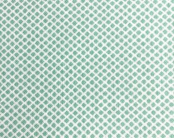 Aqua Grid Fabric - Robert Kauffman Fanfare Teal Fabric - Small Blue Diamond Cotton