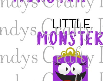 SVG I've Created a Monster/Little Monster T-Shirt set