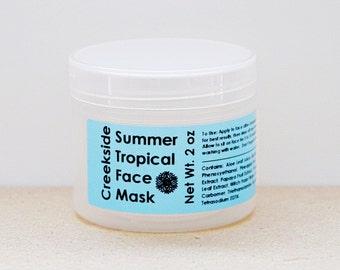 Tropical Face Mask, Pineapple Mask, Papaya Mask, Exfoliating Mask, Resurfacing Mask, Gel Mask, Enzyme Mask, Papaya Facial Mask, Skin Care