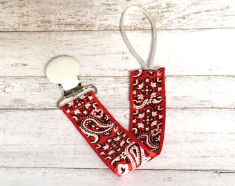 Red Bandana Binky Leash
