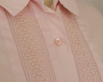 Early 1960s Pink Dress with Decorative Stitching