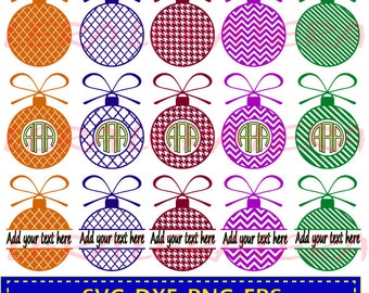 60 % OFF, Christmas ball Svg, Christmas ball Monogram Frame, Ball Split Monogram Frame, Christmas ball Cut File, Svg, Eps,Ai, Dxf, Chevron