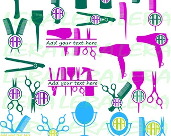 60 % OFF, Hairdresser Svg, Hairstylist Monogram Frame Cut Files Svg, Png, Eps, Dxf, Hairstylist Svg Cutting Files, Silhouette SVG File