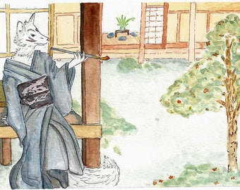Kitsune In The Garden