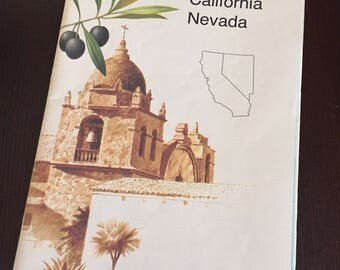 National Geographic Close up USA map- California and Nevada