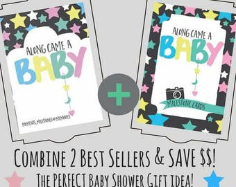 Along Came A Baby Milestone Book and Milestone Cards *Bundle and SAVE*