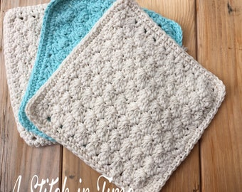 Crochet Wash Cloths, Dish Towel, Cotton Wash Cloth, Cotton Dish Cloth, Cotton Pot Holder, Customizable Was Cloth
