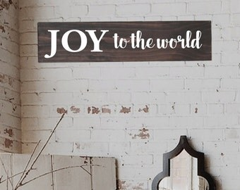 Joy to the World Sign, Rustic Christmas decoration, Wall Art, Joy Sign, Joy Wood Sign, Rustic Joy Sign, Farmhouse Christmas Signs