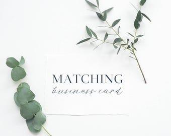 business card design matching premade logo · business card logo add-on upgrade · business branding · premade logo ·  logo preview