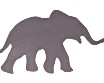 Hand Painted Elephant Silhouette