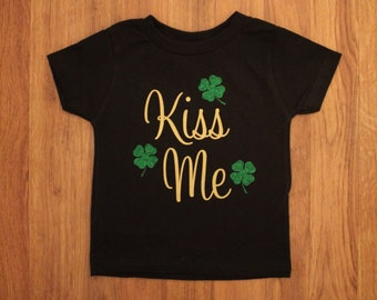 Kiss me St Patrick's day glitter shirt