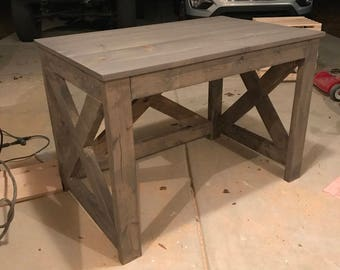 Rustic X Farmhouse Computer Desk