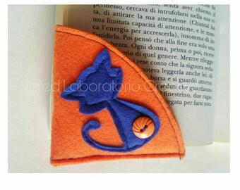 Bookmark, love cats, bookmark Felt, cat, love for reading