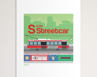 "S is for Streetcar 11""x14"" Print"