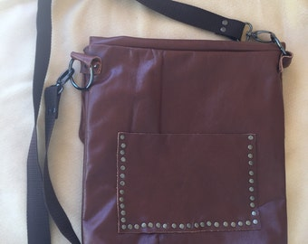 Ecco Pelle - Repurposed Leather Satchel