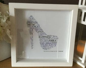 EmsiLou ACCESSORY Typography Box Frame (personalised) Shoe/Bag/Boot