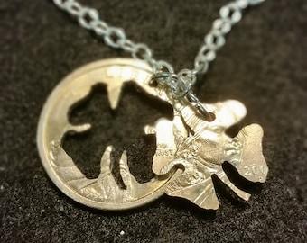 Lucky Shamrock Dollar Necklace