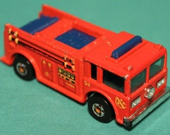 1982  Fire Eater ~ Hot Wheels Firetruck ~ Malaysia ~ Diecast ~ All Original ~ Free S&H within USA